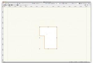 多角形を選択中の画面