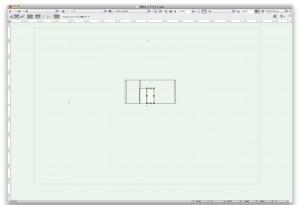 四角形作図後の画面